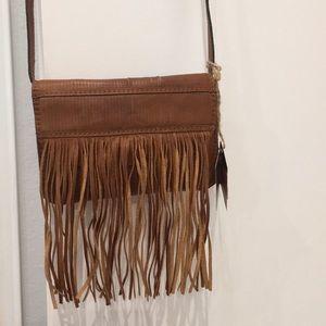 Boho cross body fringe purse